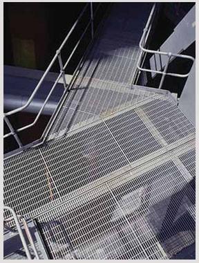 钢格板扶手栏杆